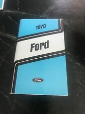 Mint 1979 Ford Factory Owners Manual Guide Unused Vtg Oem Car Truck Vehicle Book