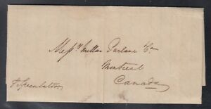 UK Canada 1819 Stampless Transatlantic Letter to Montreal Per Ship Speculator