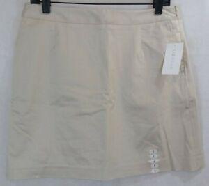 New LIZWear side zip Golf Skort womens 8 tan NWT *tiny spot