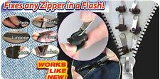 Confezione da 6 INSTANT Zip Cerniera Di Fissaggio Kit di Fissaggio Abiti Tende VALIGIE