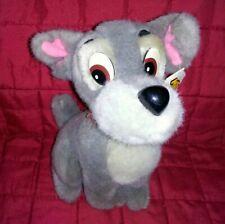 Vintage Wdw Disneyland Tramp Lady & The Tramp Schnauzer Dog 8in Gray Soft Plush