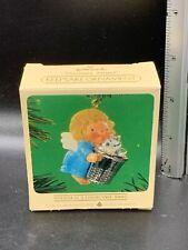 Vintage 1984 Hallmark Christmas Keepsake Ornament Thimble Angel 7th In Series