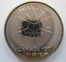 2017 CANADA 50¢ 1867-2017 150TH ANNIVERSARY OF CANADA BRILLIANT UNCIRCULATED