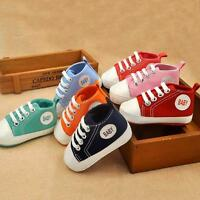 0-12M Infant Toddler Crib Shoes Newborn Baby Boy Girl Soft Sole Canvas Sneakers