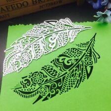 Feather Leaf Metal Cutting Dies Stencil Scrapbooking DIY Album Paper Card Crafts