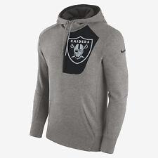 Nike Fly Fleece NFL Raiders Men's Hoodie L Gray Pullover Gray Black New