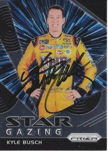 AUTOGRAPHED Kyle Busch 2018 Panini Prizm STAR GAZING Signed NASCAR Card with COA