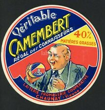 Original French Camembert Cheese Label, 606