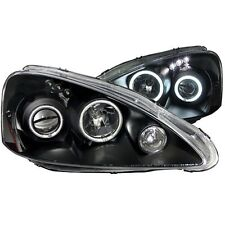 Anzo 121197 Head Lights Lamp Black with Halo for 2005-2006 Acura RSX