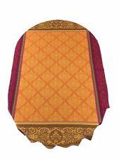 Jacquard Woven Teflon Coated Tablecloth Renaissance Orange 63 X 79 Made France