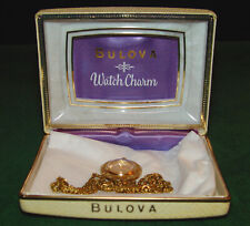 Vintage Bulova Ladies Pendant, Necklace, Charm Watch in Box