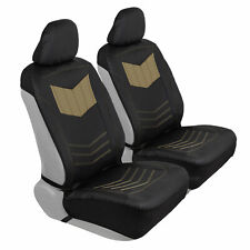 Car Sideless Seat Covers Motor Trend Beige PU Leather Front Set Truck SUV Van
