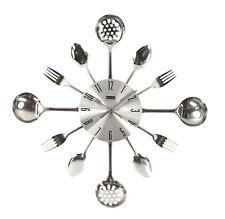 Orologio Da Parete Movimento Quarzo Muro Posate Cucina forchetta in METALLO