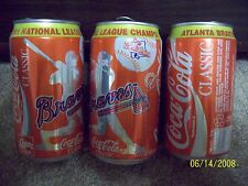 ATLANTA BRAVES 1995 WORLD SERIES CHAMPIONS  COCA COLA CAN  EMPTY