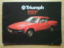 TRIUMPH TR7 COUPE orig 1977 UK Mkt Sales Brochure