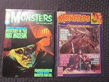 1975 FAMOUS MONSTERS Magazine #113 VF #184 FN LOT of 2 Conan Frankenstein