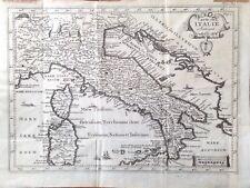 Stampa antica carta geografica mappa Italia
