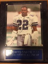Emmit Smith Signed Autograph Iconic Photo with Exceptional Frame and Certificate
