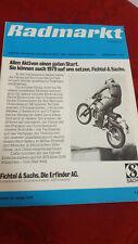 Radmarkt Moped Mofa Mokick Roller Fahrrad Zeitschrift Sachs DKW 12/79