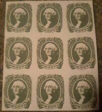 Springfield facsimile Confederate State Postage stamp Block Of 9 Mint