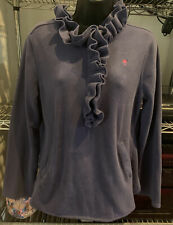 Lilly Pulitzer Purple Velour 1/2 Zip Pullover Style 35032W Size Medium M