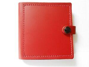Genuine Red Leather Handcrafted Guitar Pick Wallet Inc 12 Henry Heller Picks