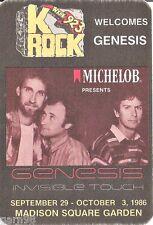Genesis Phil Collins Concert Handbill Sticker Pass1986