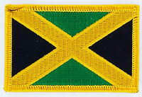 JAMAICA FLAG PATCH BADGE IRON ON NEW EMBROIDERED