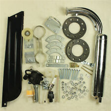 50cc Bike 2 Stroke Cycle Petrol Gas Engine Motor Kit DIY Motorized Bicycle Black