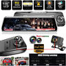 "Super Night Vision 10"" HD 1080P Dash Cam Car Rear View Mirror DVR ADAS Anytek"