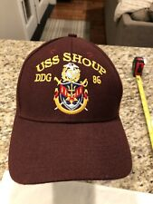 USS Shoup DDG 86 Destroyer Ship Cap Adult Adjustable Hat Sewn Logo