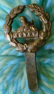 Gloucestershire Regiment Back Badge BRASS Long Slider 20 mm ANTIQUE Original