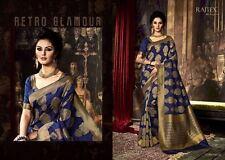 Indian Ethnic Bollywood Beautiful Party ART SILK  Designer Saree Sari KAMAKSHI