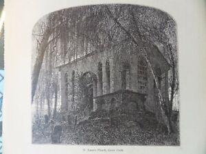 St. James Episcopal Church Goose Creek South Carolina Antique Engraving 1878