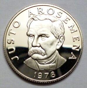 UNC Justo Arosemena Panama Coins 1//4 Balboa 1975