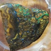 BIZARRE Huge side 165.25CT +VIDEO Australia Boulder Opal ROUGH / RUB