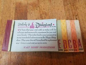 1967 vtg Disneyland Adult ticket coupon book booklet original old Disney 1960's