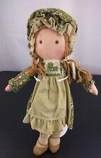 Vtg Knickerbocker Doll Amy Friend Holly Hobbie Cloth Rag Doll Decor Collectible