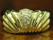 18kt 750 Yellow Gold Ring with 0,14ct Diamond Decorations/4,6g/ Rg 55