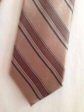 Vintage Oscar de la Renta tie stripe skinny hand sewn