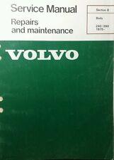 Volvo 240 260 Service Manual Body Maintenance 1975-up Diesel Gas sec 8 110pg