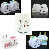 Travel Adapter Universal to AU CA EU UK USA with USB Port Outlet Foreign Socket