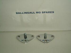 MG TD TF MGA SIDE CURTAIN PLATES X 2  ( PAIR) 405-300 AAA5154