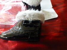 neuvespaires chaussures bébé ou pouon orchestra 3-6mois noir ciré ,petit noeud ,