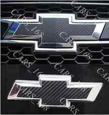Un par de fibra de carbono insignia Pegatinas Calcomanías Gráficos Adhesivo Para Chevrolet (09-15)