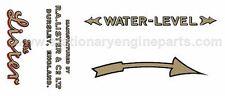 Lister D, DK & F Stationary Engine Transfer Set, Lister D, DK & F Decals