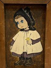 Dolores Hackenberger Little Amish Girl Framed & Signed Oil Painting