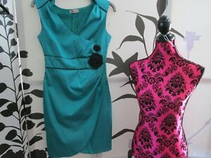 ANT'ALL DRESS TEAL EVENING FROCK UK14 PARTY RECEPTION