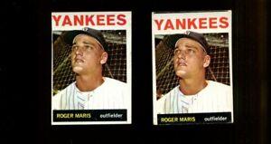 1964 TOPPS #225 ROGER MARIS LOT OF 2 VG B259152