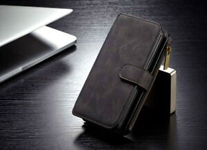 Luxury Leather Fashion Stand Stylish Wallet Card Case Cover for iPhone 7 (Black)